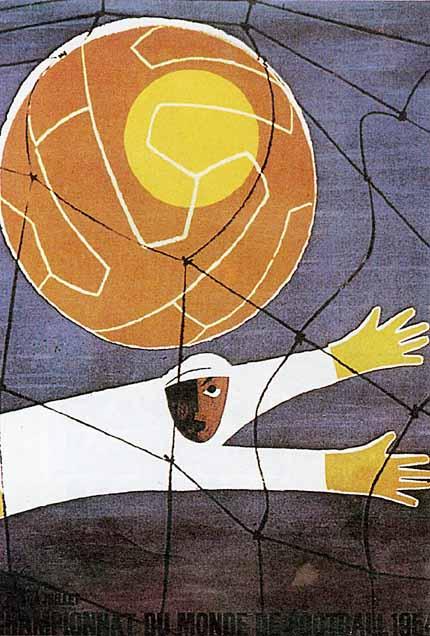 Afiche Coupe du Monde 1954