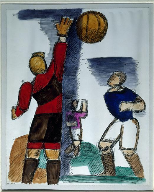 """Marcel Gromaire """"Football"""" (1930)"""