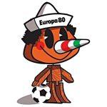 Pinocchio Mascotte Euro 1980