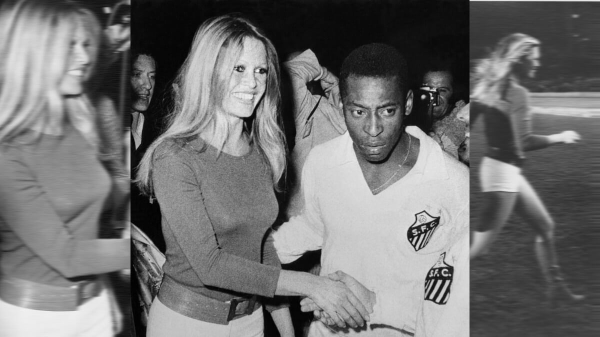 Brigitte Bardot & Pelé en 1971