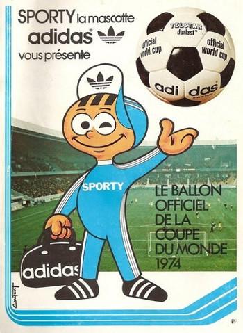 Pub Adidas Ballon Telstar CM 1974