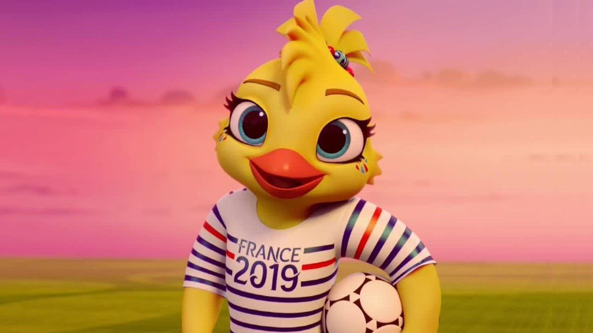Ettie mascotte Coupe du Monde 2019
