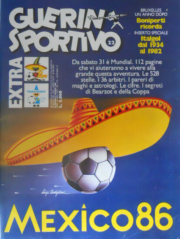 Luigi Castiglioni, couverture du Guerin Sportivo, mai 1986