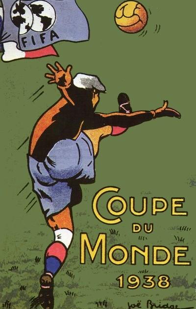Carte postale Coupe du monde 1938