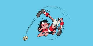 Gaston Lagaffe joue au football